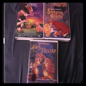 3 DISNEY-CHILDREN'S VHS's